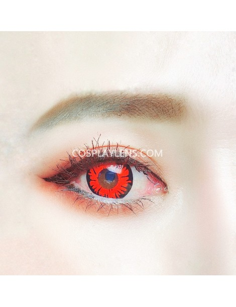 Fantasy Red Unicorn Crazy Cosplay Contact Lenses