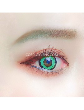 Fantasy Green Unicorn Crazy Cosplay Contact Lenses