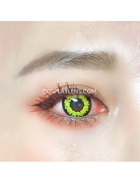 Fantasy Yellow Unicorn Crazy Cosplay Contact Lenses