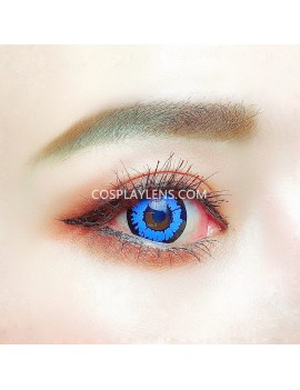 Fantasy Blue Unicorn Crazy Cosplay Contact Lenses
