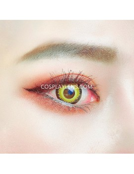 Golden Orange Yellow Unicorn Crazy Cosplay Contact Lenses