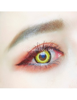 Golden Orange Yellow Unicorn Crazy Cosplay Contact Lenses