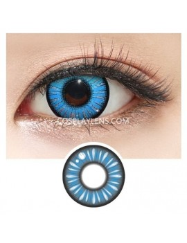 Blue Anime Crazy Cosplay Contact Lenses