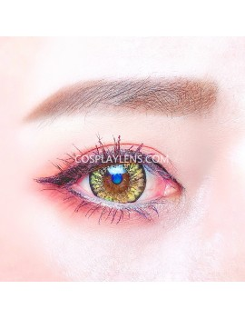 4 Tones Golden Orange Yellow Brown Natural Unicorn Contact Lenses