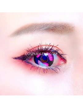 Anime Purple Unicorn Premium Crazy Cosplay Contact Lenses
