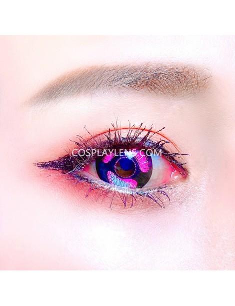 Anime Purple Unicorn Premium Crazy Cosplay Contact Lenses