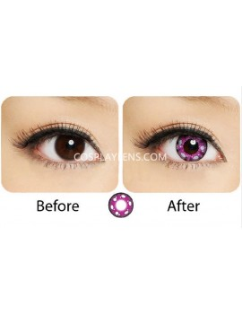 Pinky Purple Anime Crazy Cosplay Contact Lenses