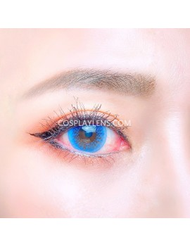 Natural Blue Unicorn Premium Coloured Contact Lenses 14.0mm