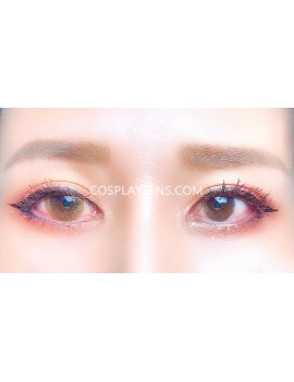 Natural Brown Unicorn Premium Coloured Contact Lenses 14.0mm before and after.