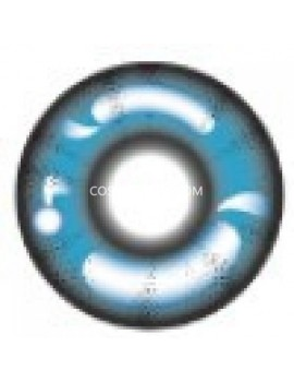 Blue Anime Reflective Crazy Cosplay Contact Lenses