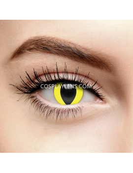 Yellow Cat Eye Crazy Cosplay Contact Lenses