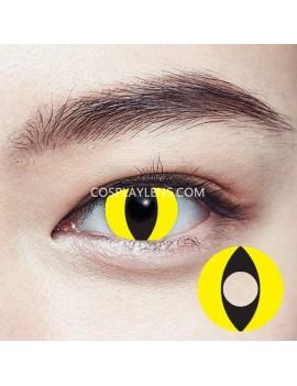Yellow Cat Eye Crazy Cosplay Contact Lenses