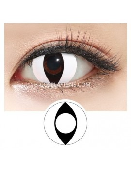White Cat Eye Crazy Cosplay Contact Lenses