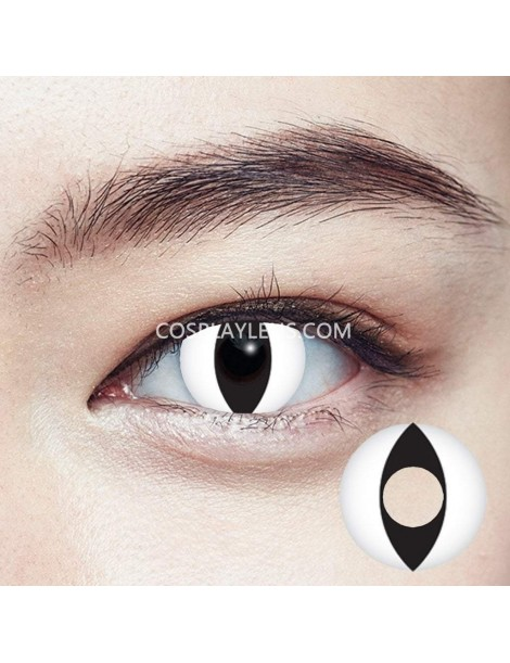Geo Cat Eye White Cosplay Contact Lenses