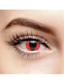 Red Cat Eye Crazy Cosplay Contact Lenses