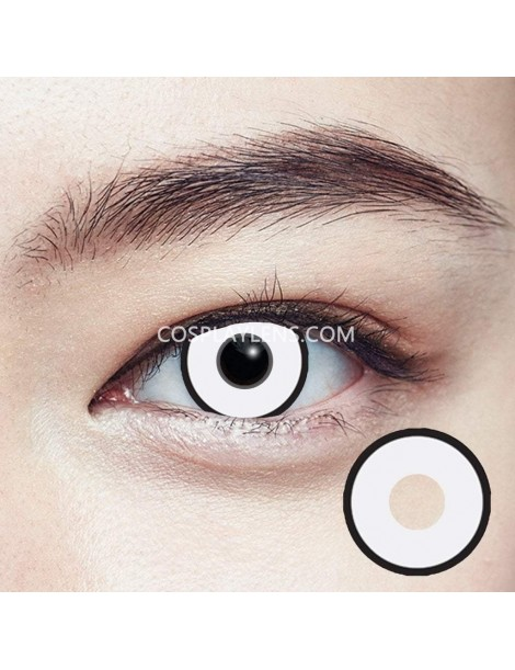 Black White Halloween Crazy Cosplay Contact Lenses