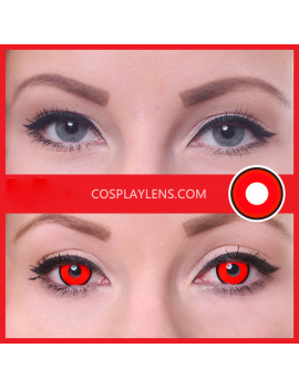 Red Black Halloween Zombie Crazy Cosplay Contact Lenses