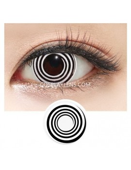 White Black Reninggan Naruto Crazy Cosplay Contact Lenses