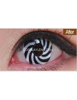 White Black Spiral Crazy Cosplay Contact Lenses