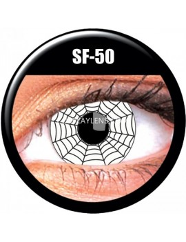 White Black Spider Web Crazy Cosplay Contact Lenses