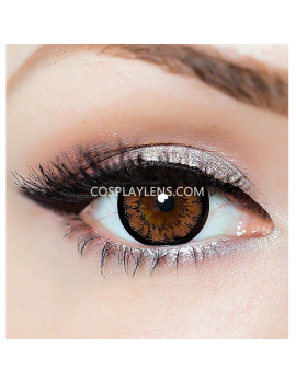Geo Super Angel Brown Circle Coloured Contact Lenses