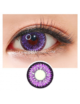 Geo Super Nudy Purple Voilet Circle Coloured Contact Lenses