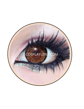 Geo Super Nudy Brown Circle Coloured Contact Lenses