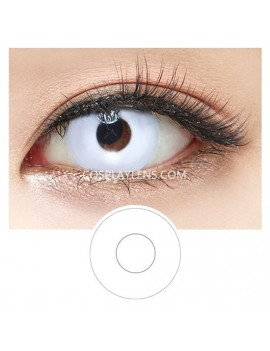 Halloween Zombie White Crazy Cosplay Contact Lenses