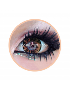Geo Forest Brown Circle Coloured Contact Lenses