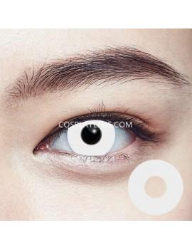 Halloween Zombie White Crazy Cosplay Contact Lenses