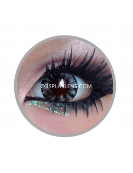 Geo Forest Grey Circle Coloured Contact Lenses