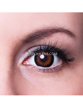 Geo Brown Bella Circle Coloured Contact Lenses