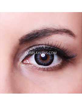 Geo Grey Bella Circle Coloured Contact Lenses