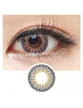 Geo Grey Tricolor Circle Coloured Contact Lenses