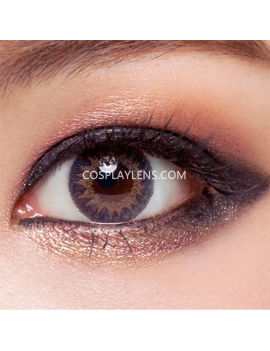 Geo Brown Tricolor Circle Coloured Contact Lenses