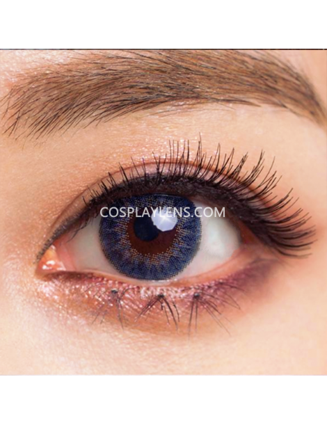 Geo Blue Tricolor Circle Coloured Contact Lenses