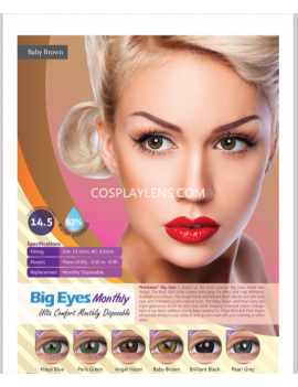 Big Eye Natural Maya Blue Coloured Contact Lenses