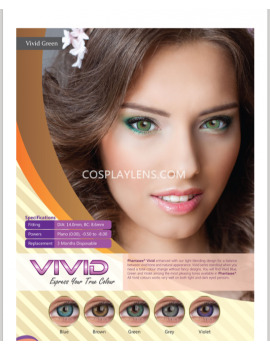 Natural Vivid Blue Coloured Contact Lenses