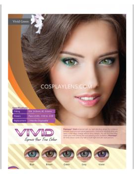 Natural Vivid Grey Coloured Contact Lenses