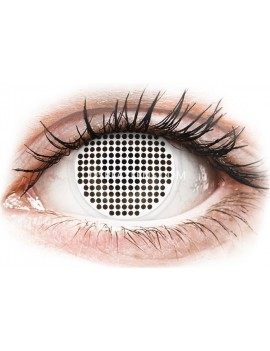 White Mesh Exodus 17mm Crazy Cosplay Contact Lenses