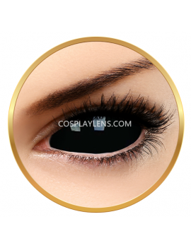 Black SABRETOOTH Sclera 22mm Crazy Cosplay Contact Lenses