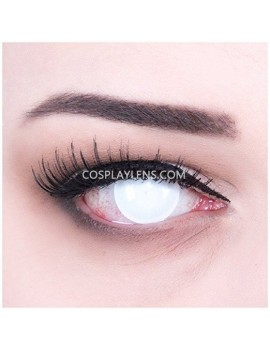 Blind White Halloween Crazy Cosplay Contact Lenses