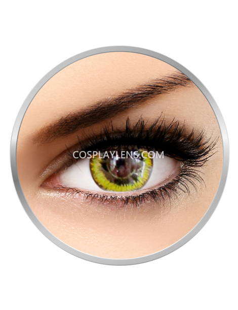 Yellow Black Gaia Crazy Cosplay Contact Lenses