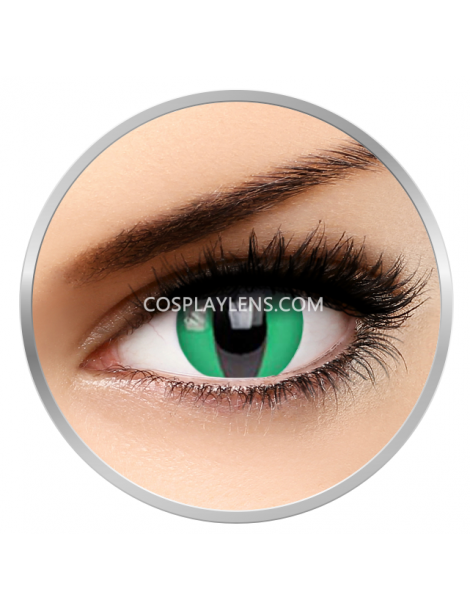 Cat Eye Lizard Green Crazy Cosplay Contact Lenses