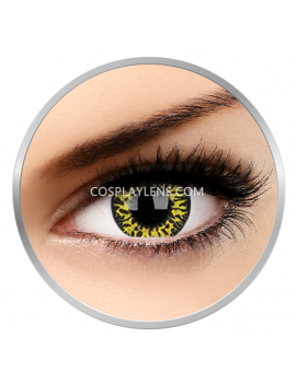 Yellow Eclipse Crazy Cosplay Contact Lenses