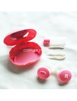 Cute Pink Pig Travel Contact Lens Case Storage Kit