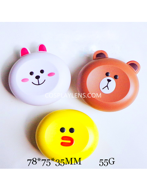 Cute Line Emoji Travel Contact Lens Case Storage Kit