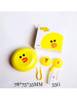 Cute Line Yellow Emoji Travel Contact Lens Case Storage Kit