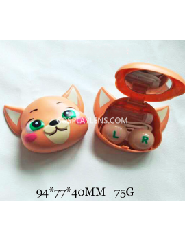Cute Brown Animal Cartoon Travel Contact Lens Case Storage Kit