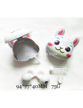 Cute White Animal Cartoon Travel Contact Lens Case Storage Kit